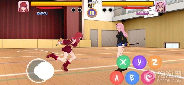忍者女孩战斗