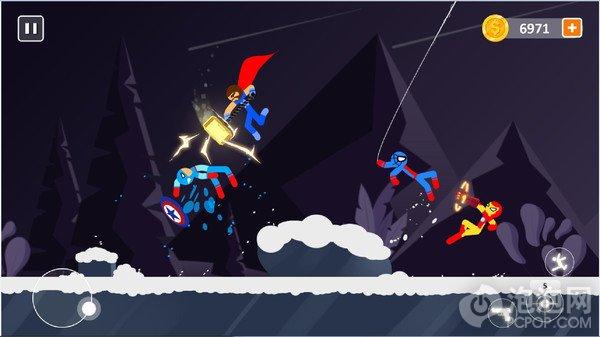 超级英雄火柴人对决游戏