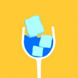 欢乐玻璃杯冰块