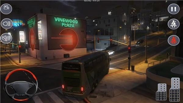 模拟大巴停车
