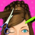 女孩发型师沙龙